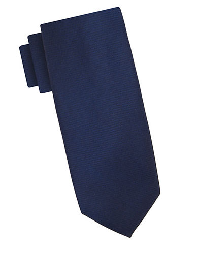 Ben Sherman Solid Tie-BLUE-One Size