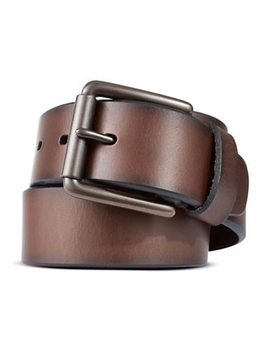 Dockers Bridle Logo Belt-BROWN-42