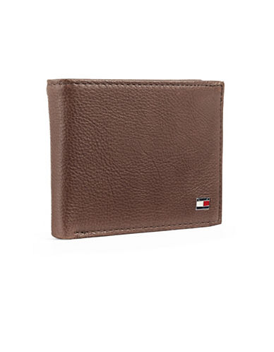 Tommy Hilfiger Darrel Double Billfold Wallet-BROWN-One Size