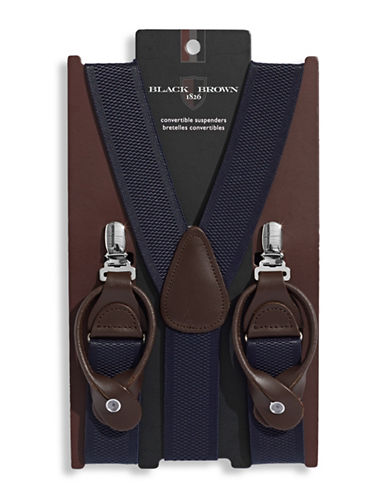 Black Brown 1826 Convertible Suspenders-BLUE-One Size