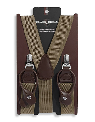 Black Brown 1826 Convertible Suspenders-BEIGE-One Size