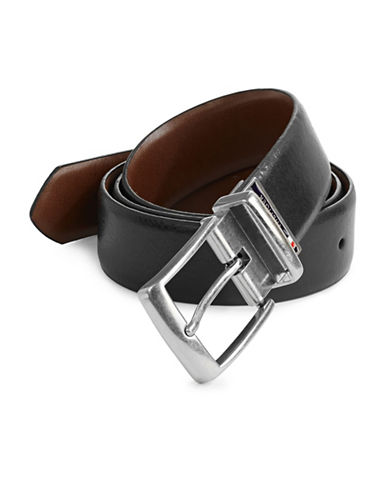 Tommy Hilfiger Signature Buckle Belt-GREY-40