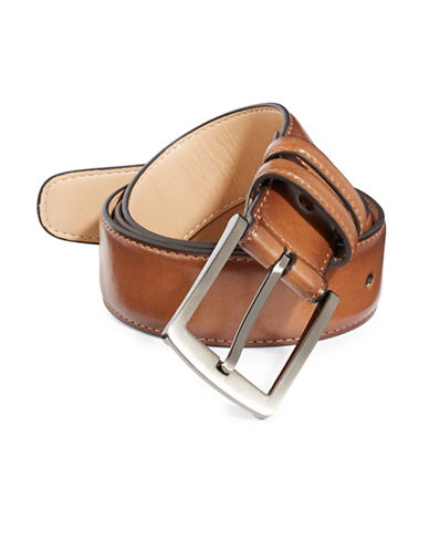 Black Brown 1826 Coated Leather Belt-TAN-42