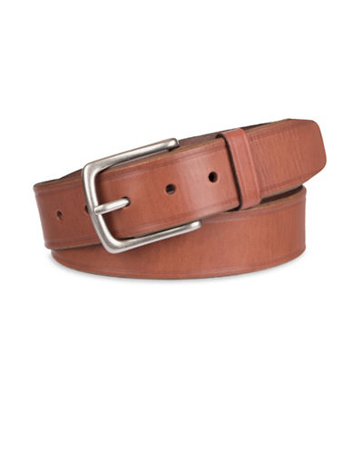 LeviS Bevelled Leather Belt-BEIGE-40