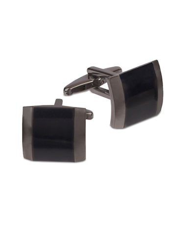 Kenneth Cole Reaction Bevelled Contrast Cufflinks-GUNMETAL-One Size