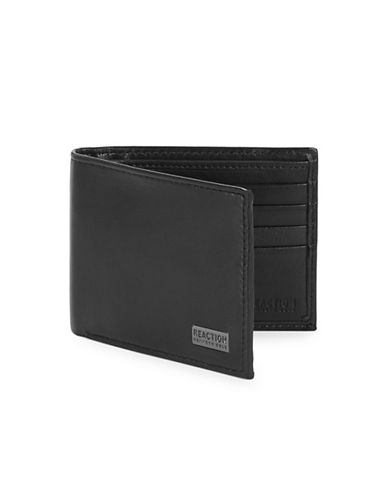 Kenneth Cole Reaction Leather Traveller Wallet-BLACK-One Size