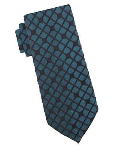 Vince Camuto Glitz Glam Geometric Silk Tie-TURQUOISE-One Size