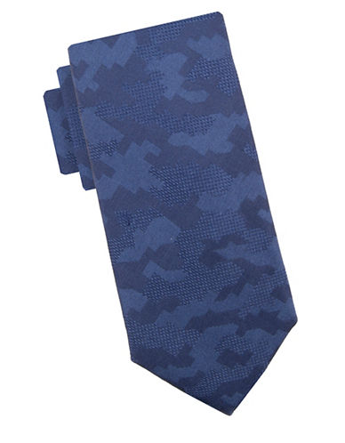 Vince Camuto Jacopo Geometric Silk Tie-NAVY-One Size