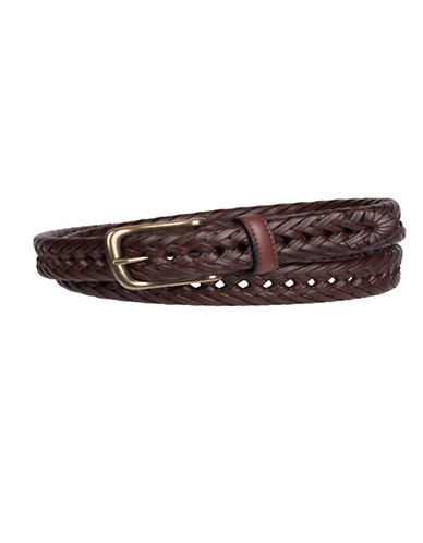 Tommy Hilfiger Braided Leather Belt-TAN-40