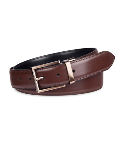 Kenneth Cole Reaction Reversible Dress Belt-BROWN-34