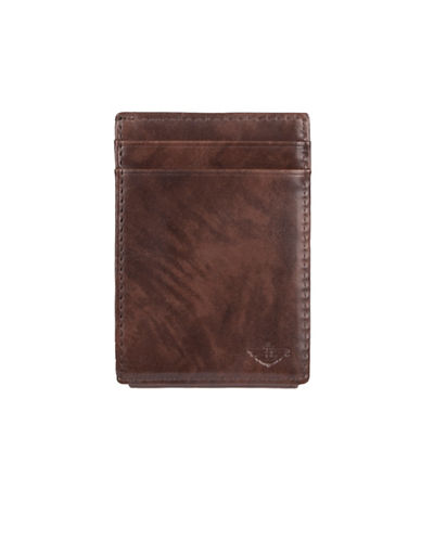 Dockers Leather Front Pocket Wallet-BLACK-One Size