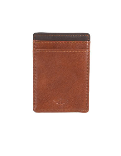 Dockers Leather Front Pocket Wallet-TAN-One Size