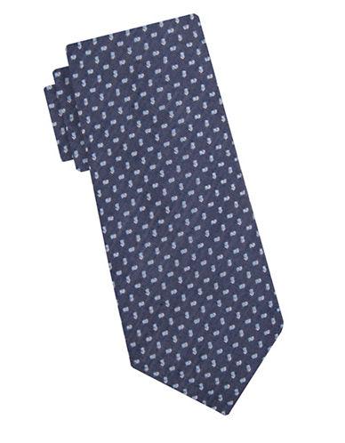 Ben Sherman Slim Textured Silk Blend Tie-NAVY-One Size