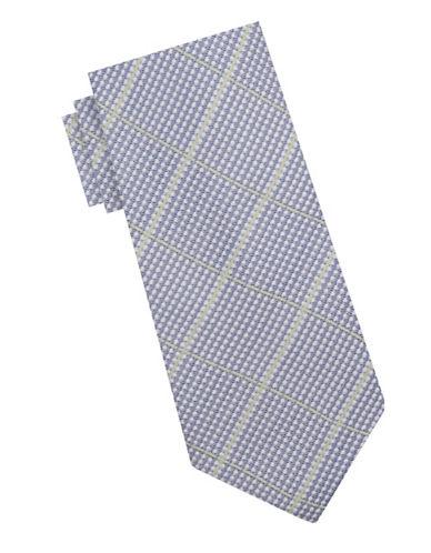 Ben Sherman Silk Check Tie-BLUE/GREEN-One Size