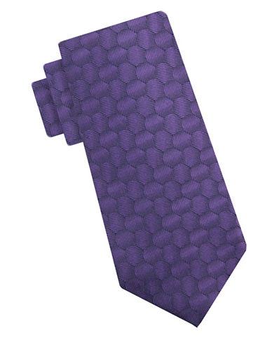 Vince Camuto Silk Hexagon Tie-PURPLE-One Size