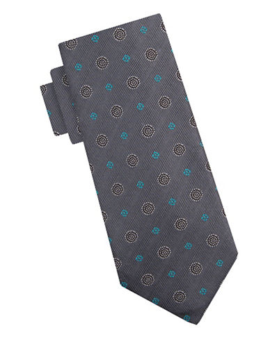 Vince Camuto Silk Spot Tie-SILVER-One Size
