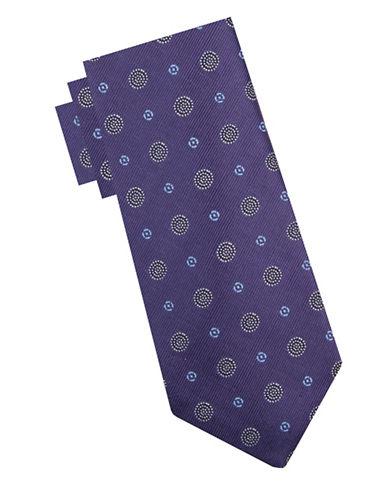 Vince Camuto Silk Spot Tie-PURPLE-One Size