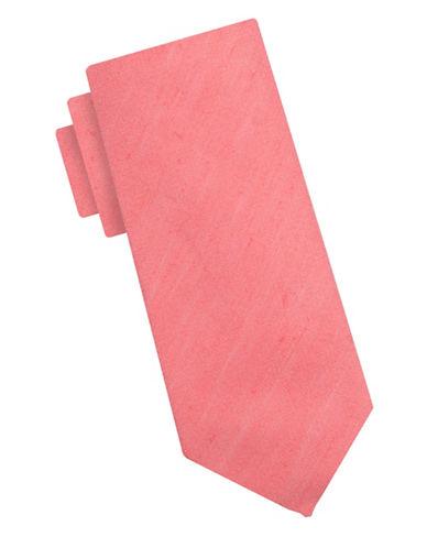 Ben Sherman Linen-Silk Tie-CORAL-One Size