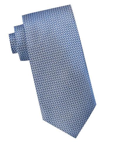 Black Brown 1826 Textured Silk Tie-NAVY-One Size