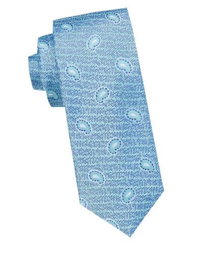 Ben Sherman Striped Paisley Silk Tie-AQUA-One Size