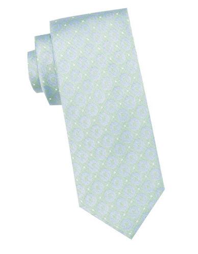 Ben Sherman Dot and Circle Silk Tie-GREEN-One Size
