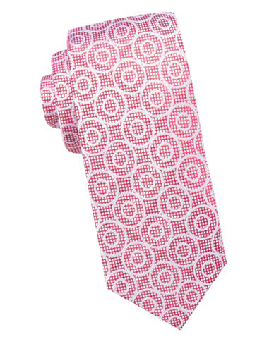 Ben Sherman Geometric Silk Tie-RED-One Size