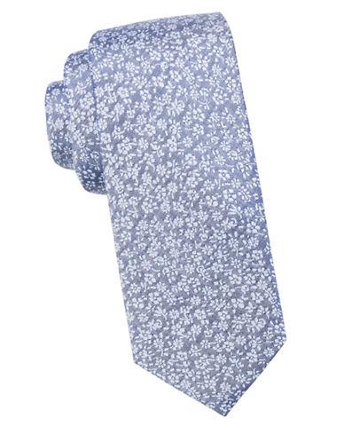Ben Sherman Floral Silk Tie-NAVY-One Size
