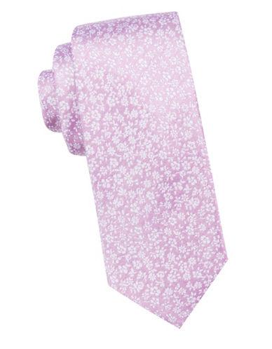 Ben Sherman Floral Silk Tie-PINK-One Size