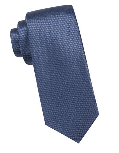 Vince Camuto Slim Textured Silk Tie-NAVY-One Size