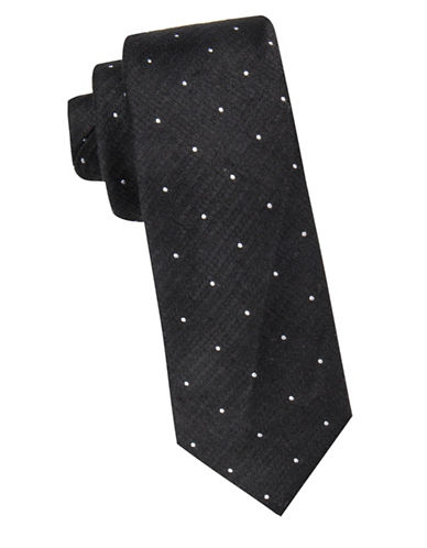 Vince Camuto Dot Pattern Tie-BLACK-One Size