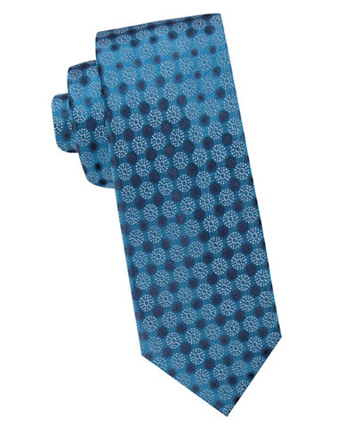 Vince Camuto Textured Silk Tie-BLUE-One Size