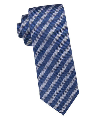 Vince Camuto Textured Striped Silk tie-BLUE-One Size