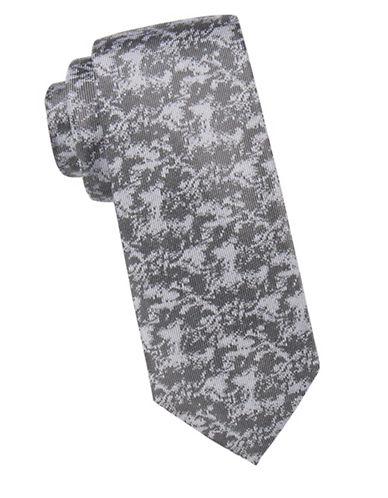 Vince Camuto Abstract Patterned Silk Tie-BLACK-One Size