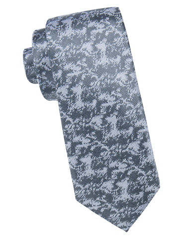 Vince Camuto Abstract Patterned Silk Tie-BLUE-One Size