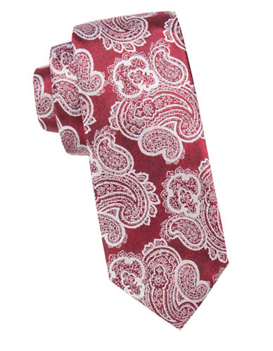 Vince Camuto Paisley Silk Tie-RED-One Size