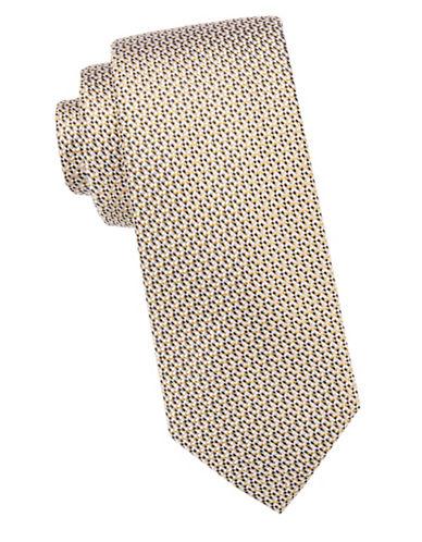 Black Brown 1826 Textured Silk Tie-GOLD-One Size