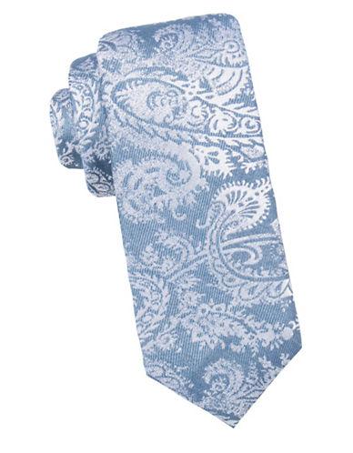 Black Brown 1826 Textured Slim Silk Tie-NAVY-One Size