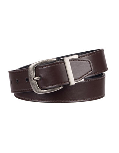 LeviS Bonded Leather Reversible Belt-BROWN/BLACK-Small