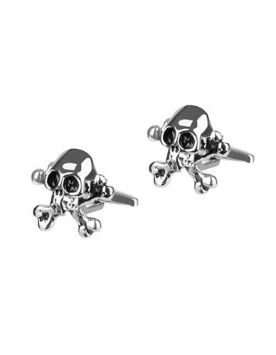 Kenneth Cole Reaction Skull Cufflinks-SILVER-One Size