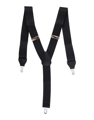 Black Brown 1826 Textured Stretch Suspender-BLACK-One Size