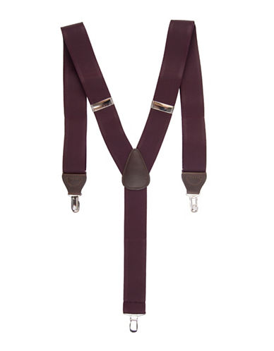 Black Brown 1826 Textured Stretch Suspender-RED-One Size