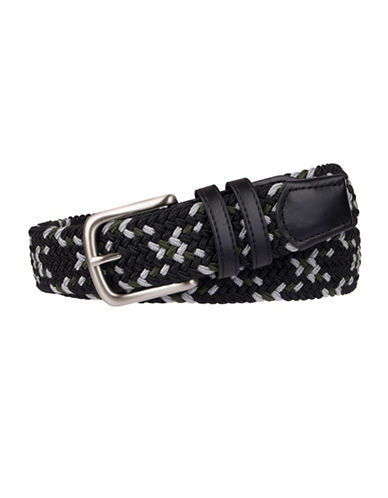 Black Brown 1826 Braided Belt-BLACK-Large