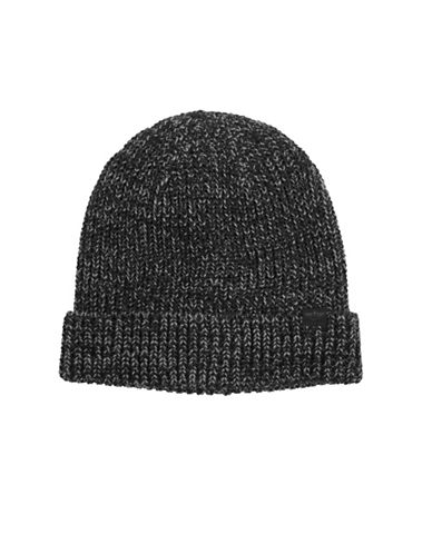 Dockers Marled Knit Tuque-BLACK-One Size