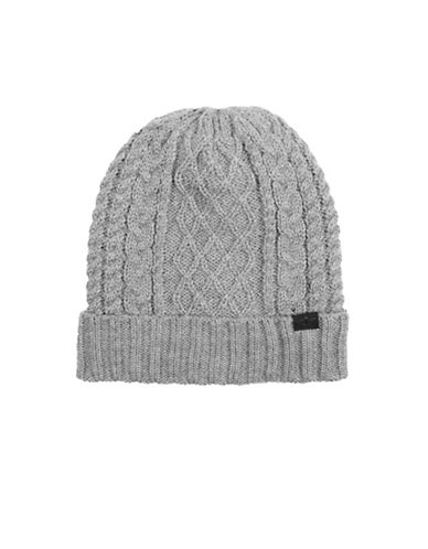 Dockers Heathered Cable Beanie-GREY-One Size