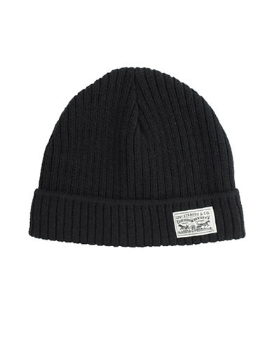 LeviS Ribbed Tuque-BLACK-One Size