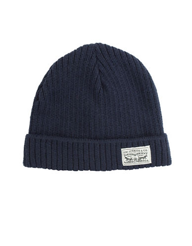LeviS Ribbed Tuque-NAVY-One Size