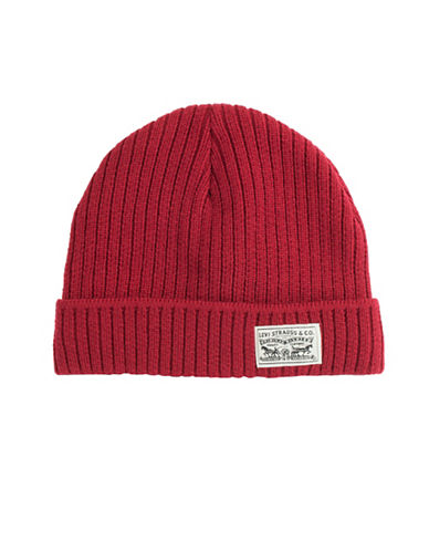 LeviS Ribbed Tuque-RED-One Size