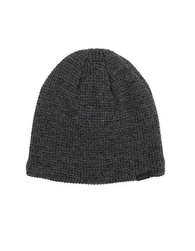 LeviS Waffle Skull Beanie-CHARCOAL-One Size