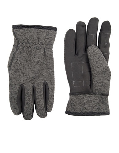 LeviS Heathered Knit Gloves-CHARCOAL-Medium