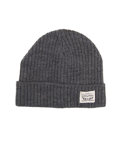 LeviS Ribbed Tuque-GREY-One Size